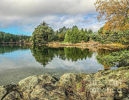 Still Harbor in Fall by William Wyckoff