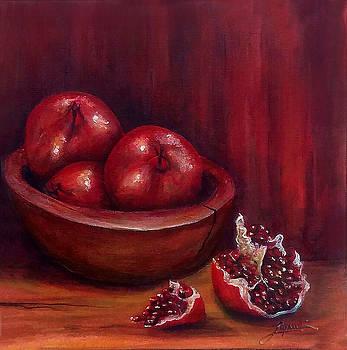 Thomas Lupari - Still life #4-Pomegranates