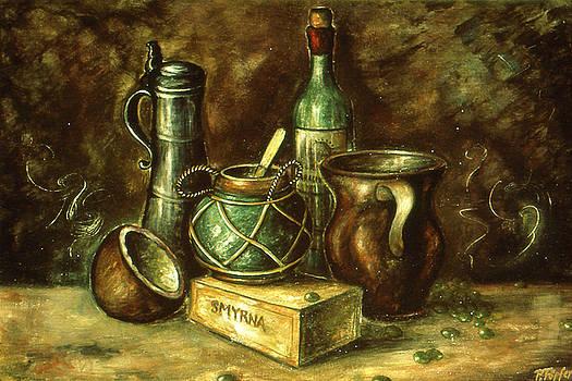 Art America Gallery Peter Potter - Still Life 72 - Oil On Wood