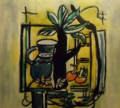 Still Life after Leger by Bruce Ben Pope