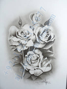 Still  life in charcoal by Asif Javed Azeemi