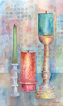 Still Life Of Candles by Arline Wagner