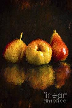 Still Life- Three Pears by Feryal Faye Berber