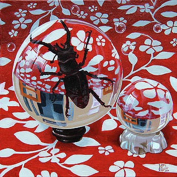 Still life with a beetle by Victor Molev