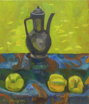 Still life with a jug and quince by Yana Poklad