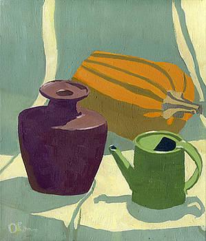 Still Life With a Pumpkin by Lelia Sorokina