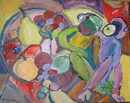 Still Life with Abstract Monkeys by Marlene Robbins
