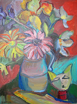 Still Life with an Abstract Cat by Marlene Robbins
