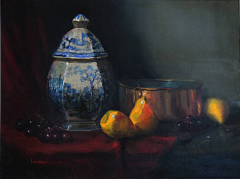 Still life with antique Dutch vase by Barry Williamson