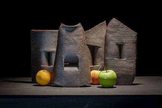 Still Life with Apples and Orange by William Sulit