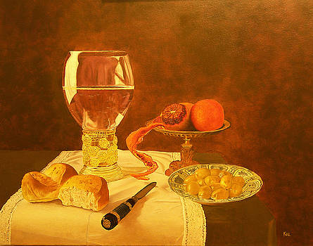 Still Life with Blood Orange by Kathy Lumsden