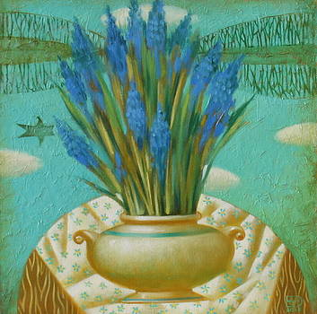 Still Life With Blue Flowers by Nadia Egorova