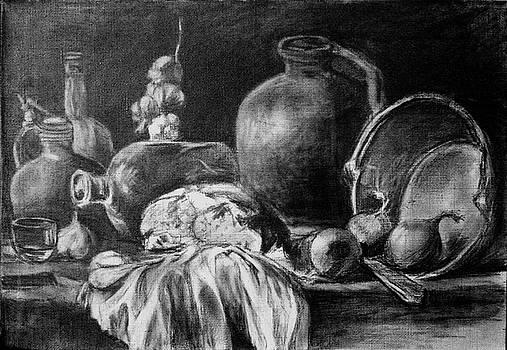 Still Life With Bread by Mikhail Savchenko