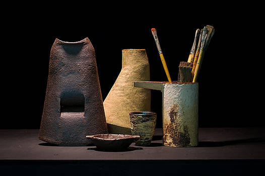 Still Life with Brushes by William Sulit
