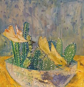 Still Life with Cactus and Feathers by Jessica Lee