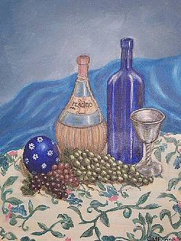 Still Life with Chianti by Catherine Sprague