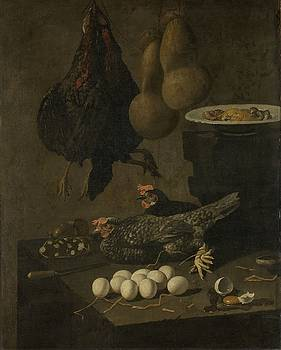 Still Life with Chickens and Eggs by R Muirhead Art