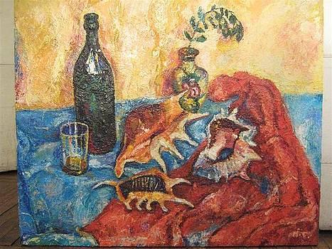Still-life with cockleshells by Natalia Slovinskaya