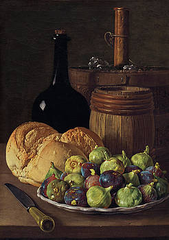 Luis Melendez - Still Life with Figs and Bread