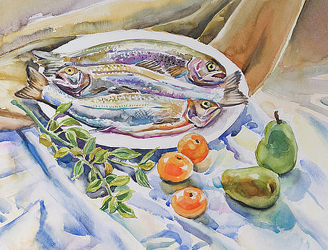 Still Life with fish by Jack Tzekov