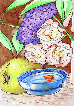 Still Life with fish by Loretta Nash
