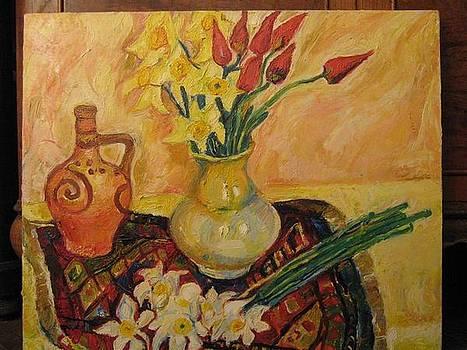 Still Life With Flowers by Natalia Slovinskaya