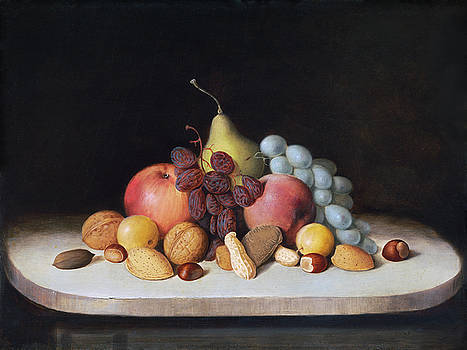 Still Life with Fruit and Nuts by Robert S Duncanson