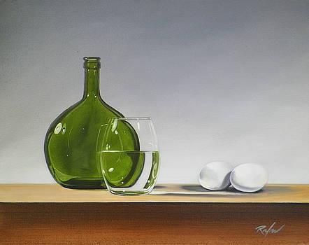 Still Life with Green Bottle by RB McGrath