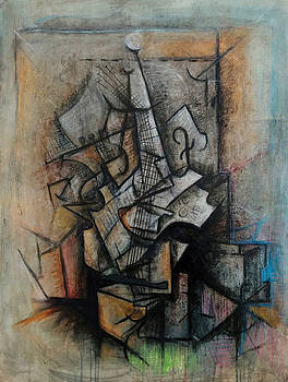Still Life with Guitar by Kim Gauge