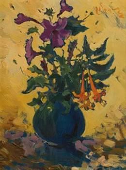 Wenning Pieter - Still Life With Hibiscus And Fuchsias