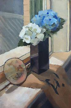 Still Life with Hydrangeas by Roz McQuillan