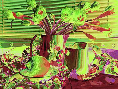 Still Life with Lemon and Flowers  by Natalya Shvetsky