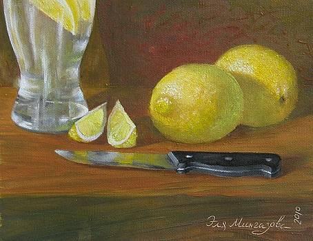 Still life with lemons by Eleonora Mingazova