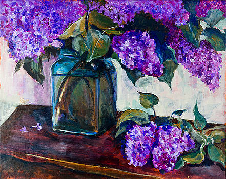 Still life with lilac 2 by Maxim Komissarchik