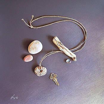 Still life with old key by Elena Kolotusha