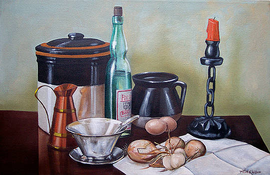 Frank Wilson - Still life With Onions and Eggs