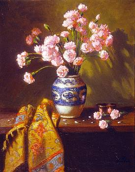 Still Life With Persian Vase by David Olander