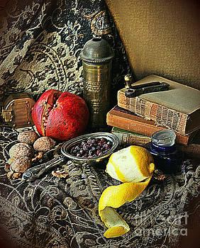 Still Life With Pomegranate And Lemon by Binka Kirova
