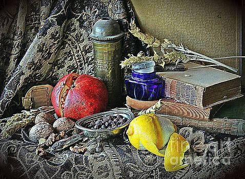 Still Life With Pomegranate And Lemon II by Binka Kirova