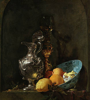Still Life with Silver Ewer by Willem Kalf