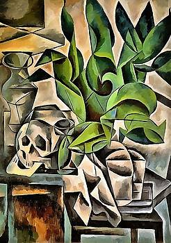 Tracey Harrington-Simpson - Still life with Skull After Bohumil Kubista