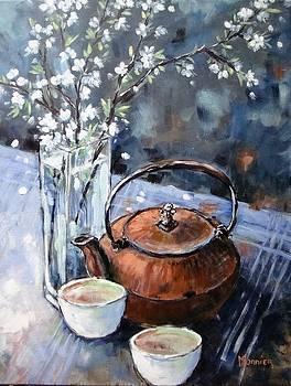 Spring Still Life With Tea Pot by Cathy MONNIER