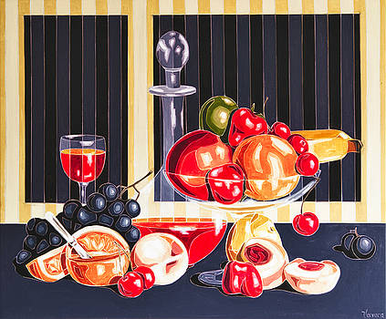 Still LIfe With The Garden Fruits by Varvara Stylidou