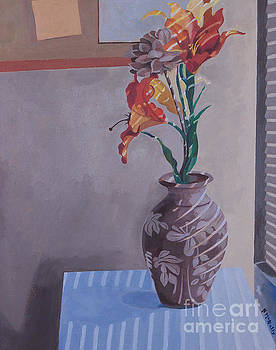Still Life with Tiger Lilies by Susan McNally