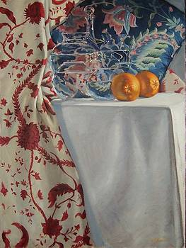 Still Life with Two Oranges by David Johnson