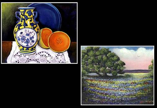 Still life with Yellow Vase by Judy Coupland