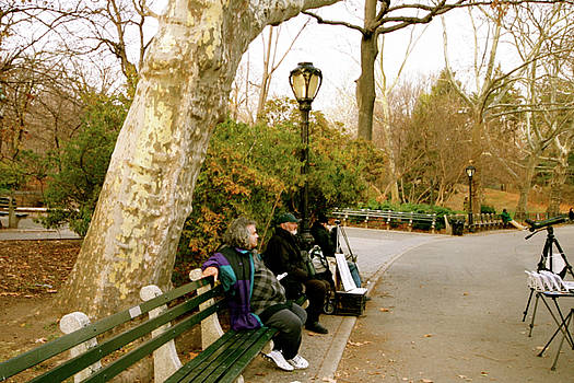 Still Waiting in Central Park by Femina Photo Art By Maggie