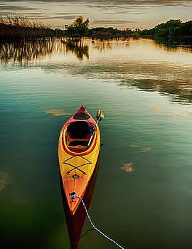 Still water kayak by Donna Caplinger