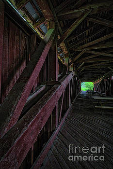 Stillwater Covered Bridge interior detail, 2016.05.22 by Aaron Campbell