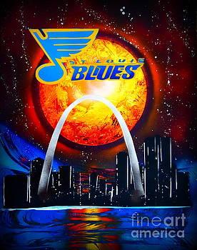 STL Blues  Darkened by Justin Moore